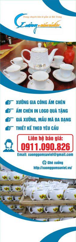 Xưởng cung cấp ấm chén số lượng lớn- Xưởng Gốm Sứ Việt