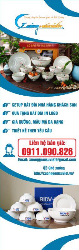 Cung cấp Bát Đĩa Nhà Hàng Khách Sạn- Xưởng Gốm Sứ Việt