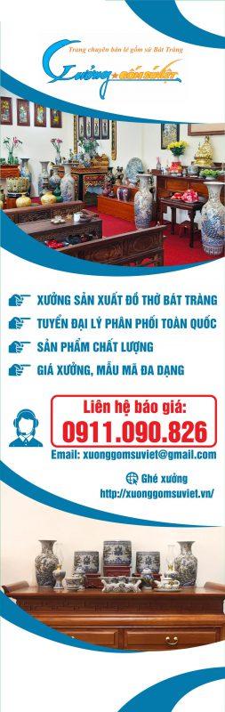 Đồ Thờ Cúng Bát Tràng- Xưởng Gốm Sứ Việt