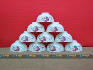 Bộ 10 bát cơm hoa hồng Minh Châu