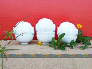Bộ 10 bát cơm sứ trắng Minh Châu