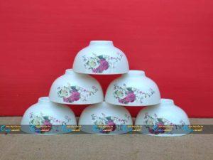 Bộ 6 bát cơm hoa hồng Minh Châu