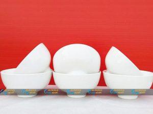 Bộ 6 bát cơm sứ trắng Minh Châu