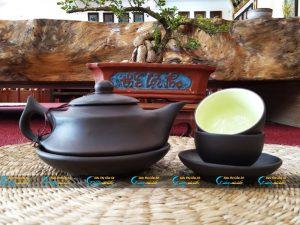 Bộ trà tử sa dáng ấm tích Bát Tràng