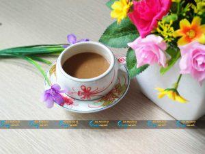 Ly cà phê họa tiết khoai chuồn