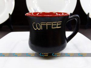 Ly sứ cà phê Latte dáng eo