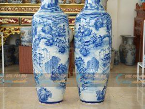 lộc bình vẽ chùa Túy Vân - Huế