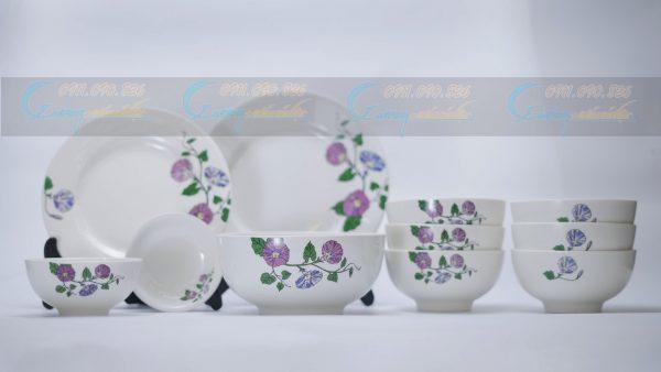 bộ bát đĩa sứ Minh Châu cao cấp